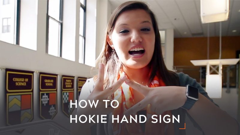 how to hokie hand sign